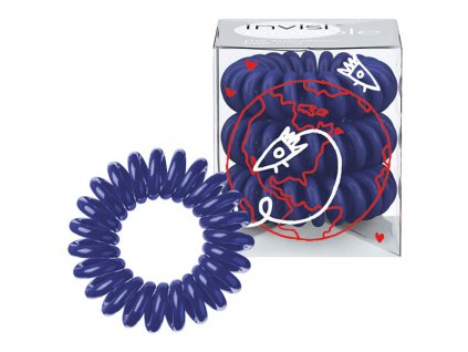 Invisibobble Gumičky do vlasů modré (Universal Blue) 3 ks