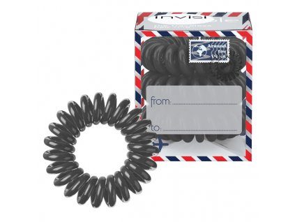 Invisibobble Gumičky do vlasů tmavě šedé (Letter from Grey) 3 ks