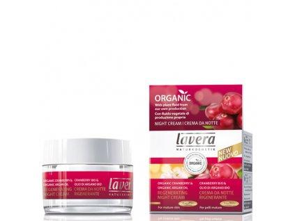 Lavera Regenerační noční krém bio brusinka & bio arganový olej 30 ml