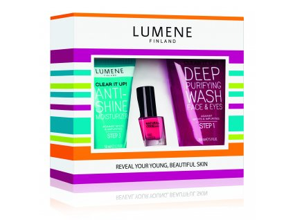 Lumene Clear It Up! kosmetická sada 150 ml + 50 ml + 4,5 ml