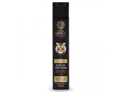 Natura Siberica Men Energizující šampon na vlasy a tělo 2v1 pro muže Nezkrotnost tygra 250 ml