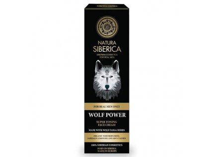Natura Siberica Men Super tonizující pleťový krém pro muže Vlčí síla  50 ml