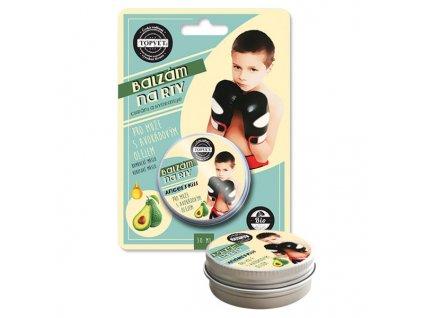 Topvet Balzám na rty pro muže s avokádovým olejem 30 ml