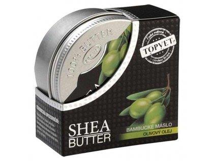Topvet Bambucké máslo shea butter s olivovým olejem 100 ml