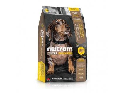 Nutram T27 Total Grain Free Turkey Chicken Duck Dog bezobilné krmivo pro psy malých plemen (krůtí, kuřecí a kachní)
