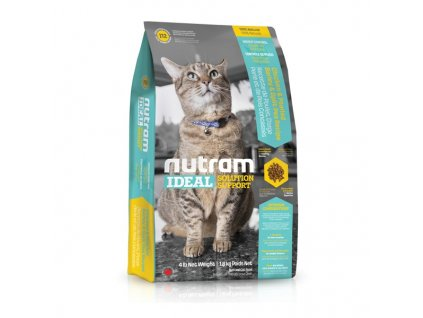 Nutram I12 Ideal Weight Control Cat krmivo pro kontrolu hmotnosti dospělých koček 1,8 kg