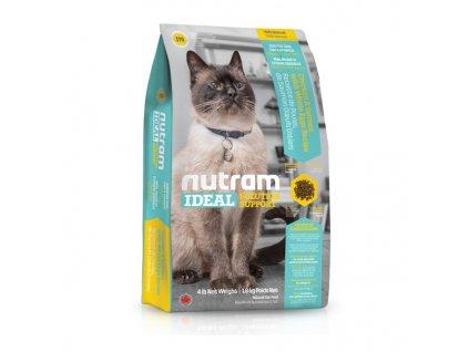 Nutram I19 Ideal Sensitive Cat krmivo pro citlivé dospělé kočky s problematickou kůží, srstí a zažíváním