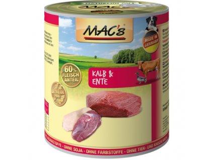 Macs Dog masová konzerva pro psy (telecí a kachní)