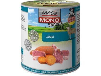 Macs Dog Mono Sensitive masová konzerva pro psy (jehněčí)