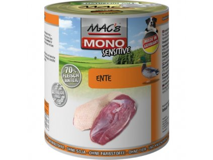 Macs Dog Mono Sensitive masová konzerva pro psy (kachní)