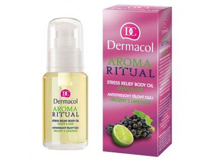 Dermacol Aroma Ritual tělový olej hrozny s limetkou (Body Oil Grape & Lime) 50 ml