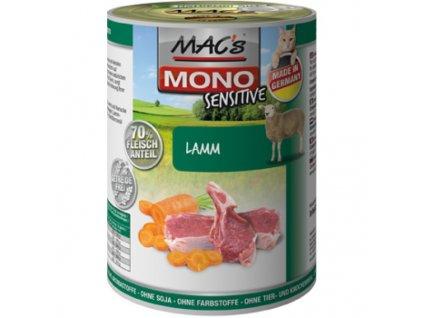 Macs Cat Mono Sensitive masová konzerva pro kočky (jehněčí s mrkví)