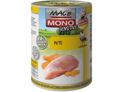 Macs Cat masová konzerva pro kočky Mono Sensitive (krůtí s mrkví)