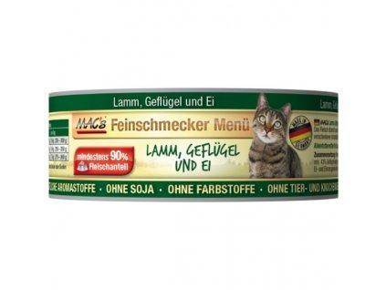 Macs Cat Fajnšmekr masová konzerva pro kočky (jehněčí a drůbeží)