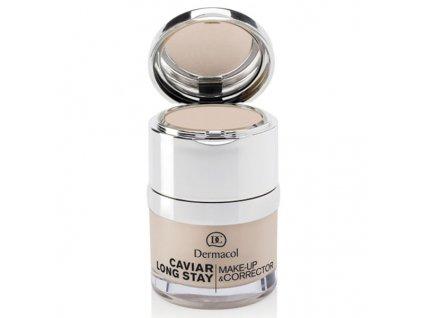 Dermacol Dlouhotrvající make-up s výtažky z kaviáru a zdokonalující korektor (Caviar Long Stay Make-Up and Corrector) 30 ml (Odstín Tan)