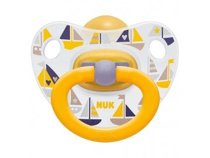 NUK Dudlík Classic Happy Kids, latex ,vel. 1 (0-6m)
