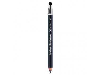 Dermacol Kajalová tužka a oční stíny 2v1 (Eyeliner & Eye Shadow) 1,6 g (Odstín č.4 - zelená)