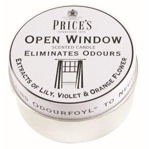 FRESH AIR vonné svíčky v plechu Otevřené okno 123g 3ks