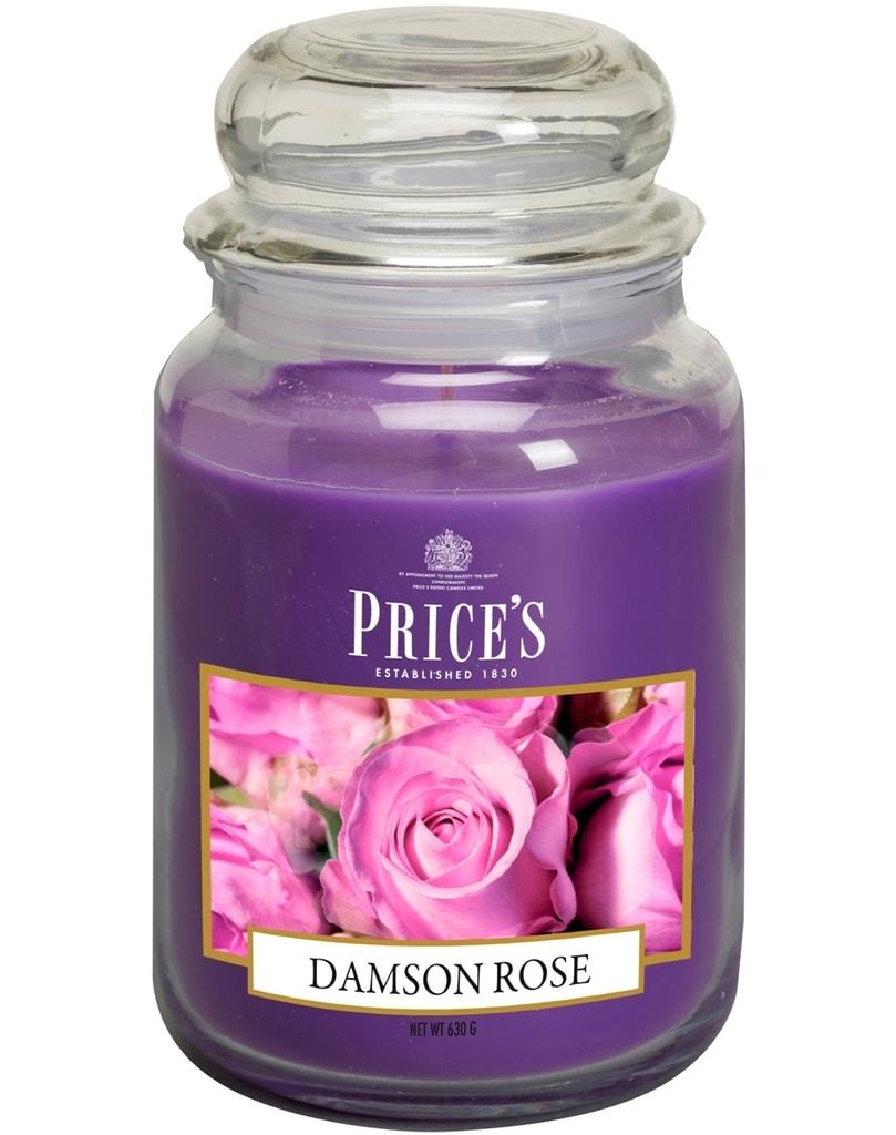 SIGNATURE MAXI svíčka ve skle Purpurová růže, hoření 150h