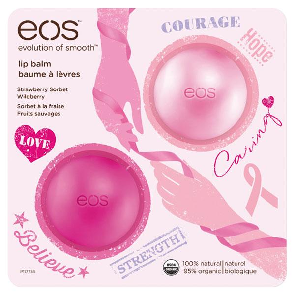 EOS Limitovaná edice dvou balzámů na rty (Limited Edition Breast Cancer Awareness Pack) 2x7 g
