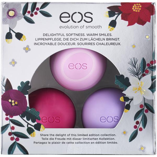 EOS Vánoční limitovaná edice tří balzámů na rty (Holiday 2016 Limited Edition Lip Balm Collection) 3x7 g