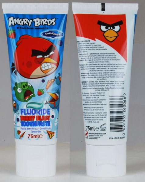 EP Line Angry Birds zubní pasta pro děti 75 ml