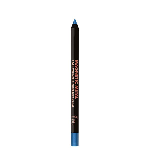 Dermacol Metalická oční linka v tužce Magnetic Metal 16H Eyeliner & Supersoft Kajal 2 g Odstín: č. 3 - modrá