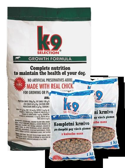 K-9 Selection Growth Formula (krmivo pro štěňata) 12 kg + 2x 1kg balení zdarma