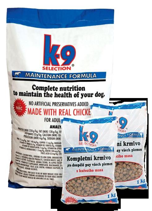 K-9 Selection Maintenance Formula (krmivo pro dospělé psy) 12 kg + 2x 1kg balení zdarma