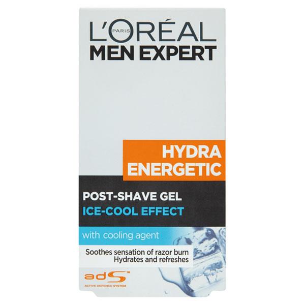 L'Oréal Paris Men Expert Hydra Energetic chladivý gel po holení pro muže s regeneračním účinkem 100 ml