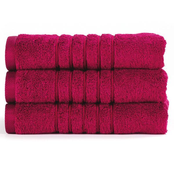 Brilliant froté ručník v malinové barvě (Berry) 50 x 100 cm