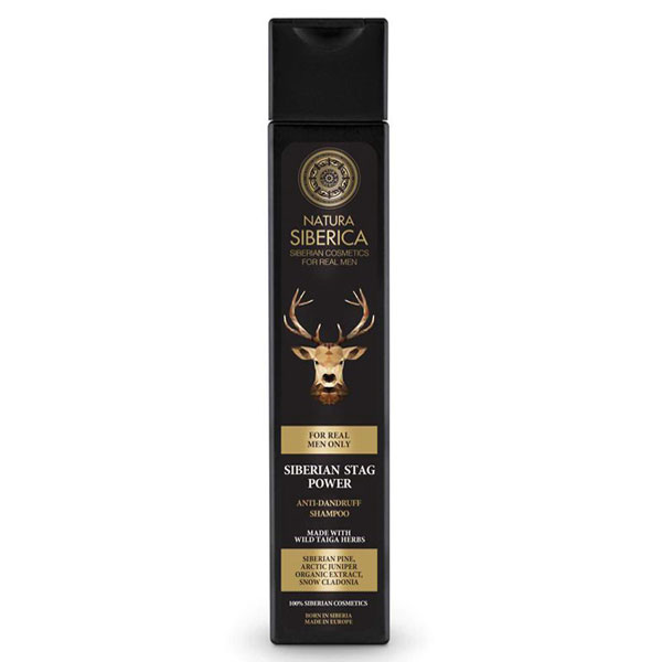 Natura Siberica Men Šampon proti lupům pro muže Moc jelena 250 ml