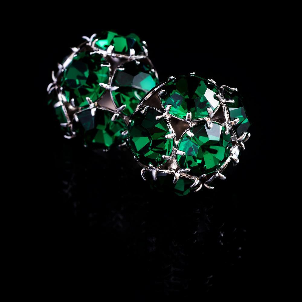 Náušnice Beatrice kolekce La Parisienne (barva Emerald)