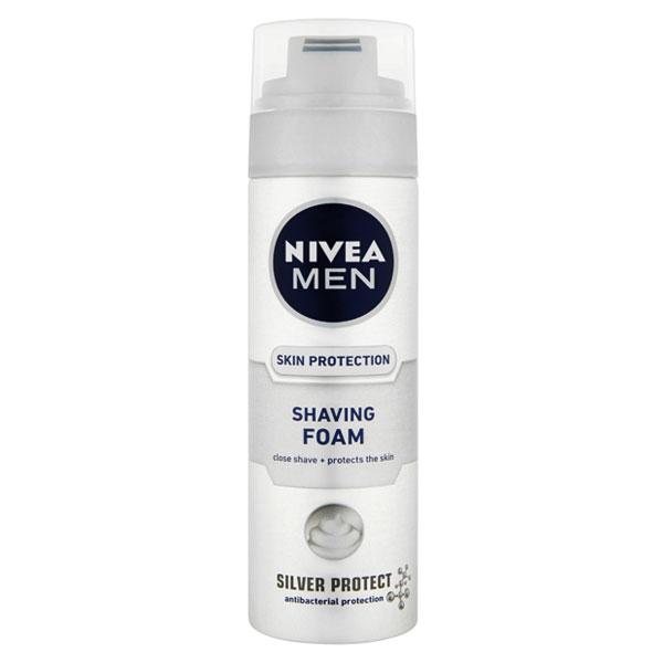 Nivea Men pěna na holení pro muže Silver Protect 200 ml