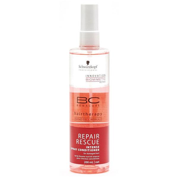 Schwarzkopf Professional BC Bonacure Bezoplachový kondicionér ve spreji pro poškozené vlasy (Repair Rescue Intense Spray Conditioner) 200 ml