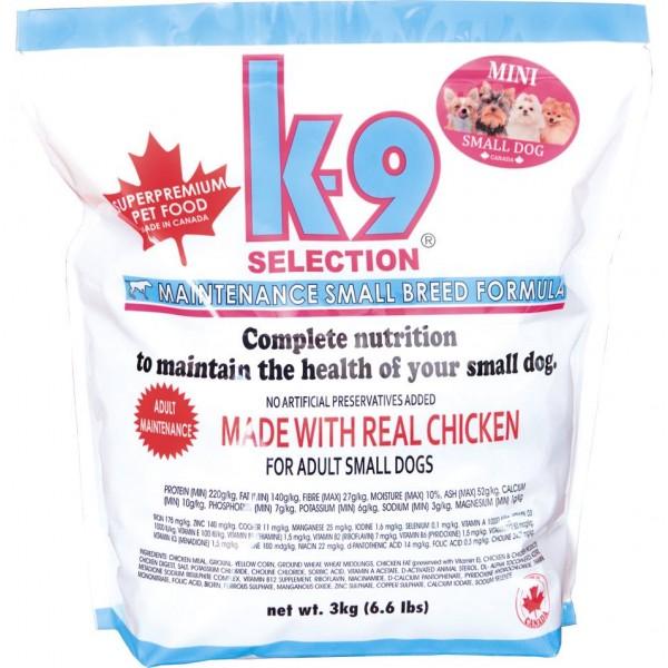 K-9 Selection Maintenance Small Breed Formula (krmivo pro dospělé psy malých plemen) Balení: 20 kg