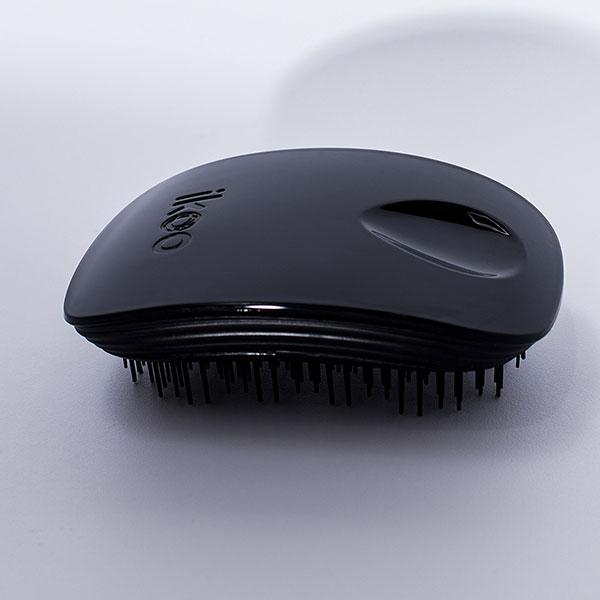 Ikoo Pocket Classic Black Kartáč na vlasy černý