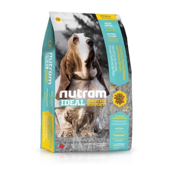 Nutram I18 Ideal Weight Control Dog krmivo pro kontrolu hmotnosti dospělých psů Balení: 13,6 kg