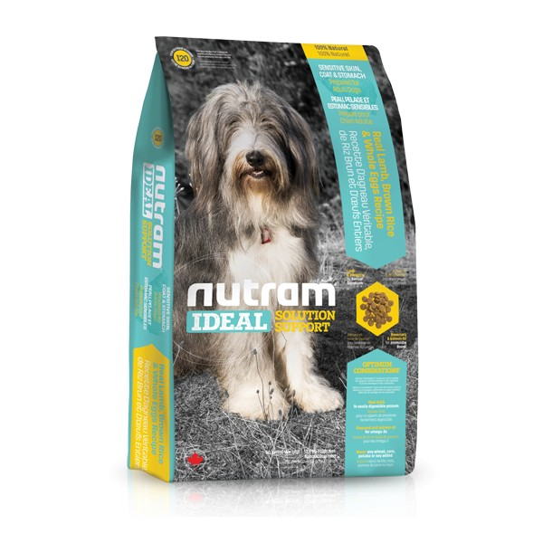 Nutram I20 Ideal Sensitive Skin Coat Stomach Dog krmivo pro dospělé psy s citlivým zažíváním, problematickou kůží a srstí Balení: 13,6 kg