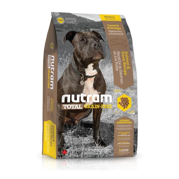 Nutram T25 Total Grain Free Salmon Trout Dog bezobilné krmivo pro psy (losos a pstruh) Balení: 13,6 kg
