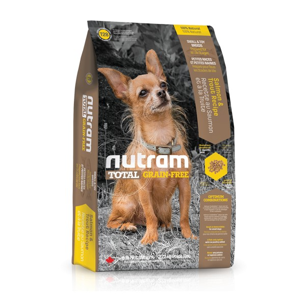 Nutram T28 Total Grain Free Salmon Trout Dog bezobilné krmivo pro psy malých plemen (losos a pstruh) Balení: 13,6 kg