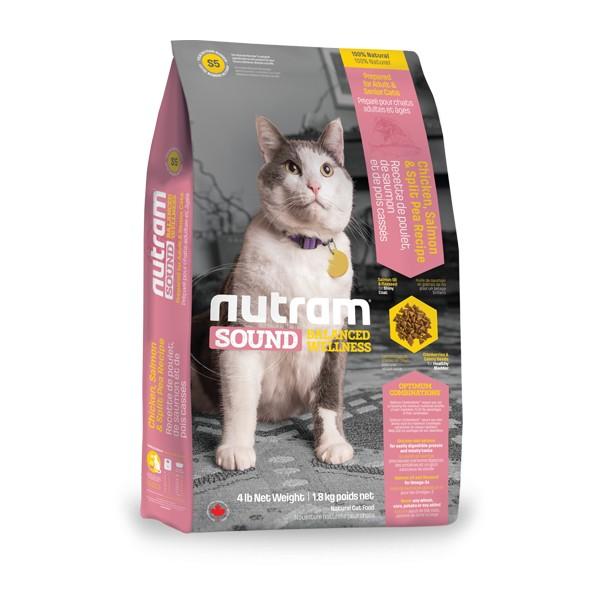 Nutram S5 Sound Adult/Senior Cat krmivo pro dospělé a starší kočky Balení: 6,8 kg