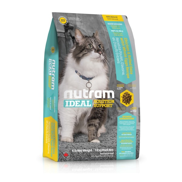 Nutram I17 Ideal Indoor Cat krmivo pro kočky chované v bytě Balení: 6,8 kg