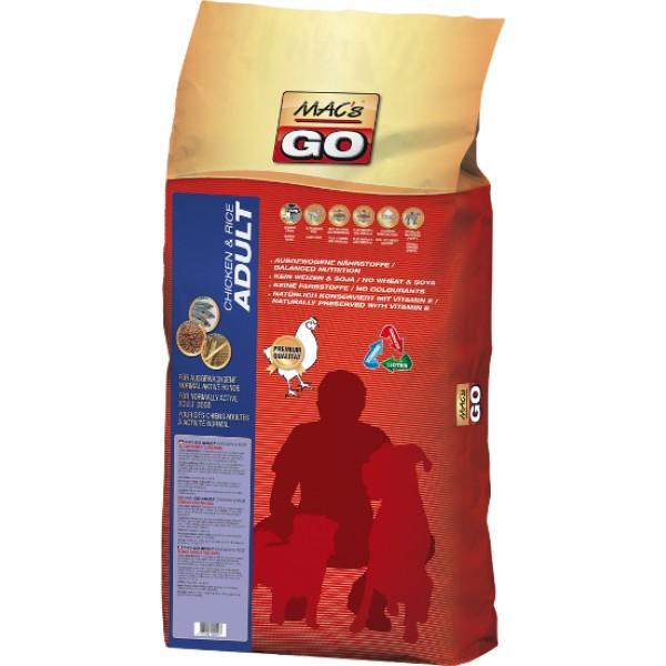 Macs Dry Dog Go krmivo pro dospělé psy (kuřecí s rýží) 12 kg