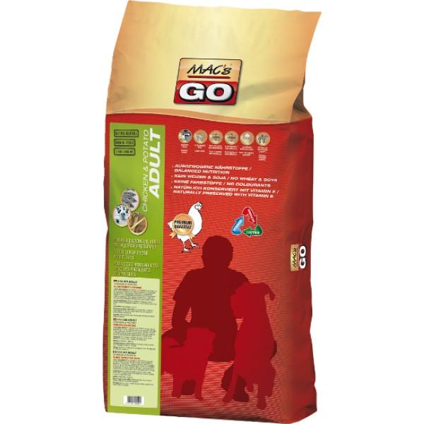 Macs Dry Dog Go bezobilné krmivo pro dospělé psy (kuřecí s bramborami) 12 kg