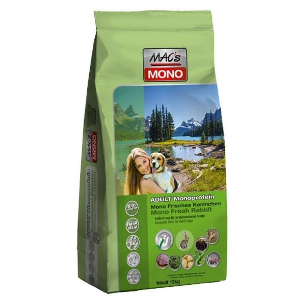 Macs Dry Dog Mono suché krmivo pro dospělé psy (králičí) Balení: 3 kg