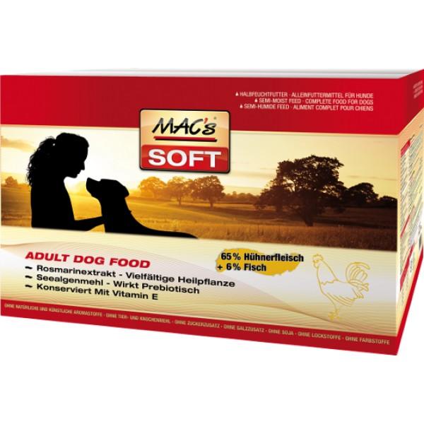 Macs Soft Dog měkké krmivo pro dospělé psy (kuřecí) Balení: 15 kg