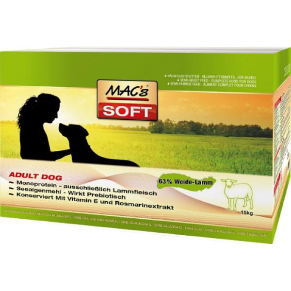 Macs Soft Dog měkké krmivo pro dospělé psy (jehněčí) Balení: 15 kg