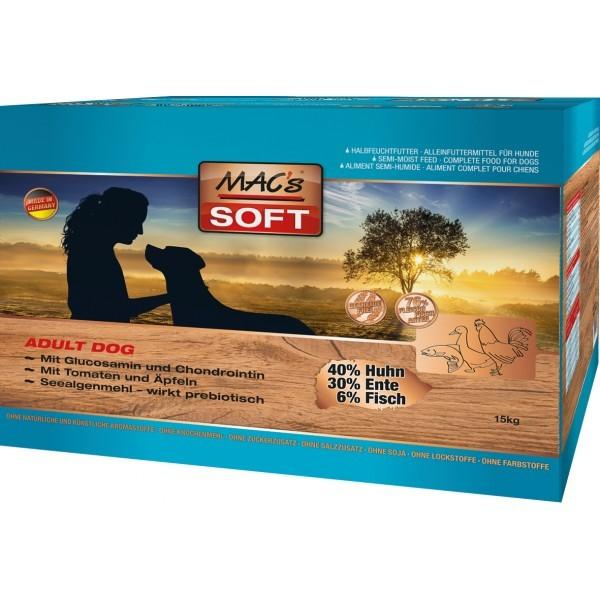 Macs Soft Dog Grain Free měkké bezobilné krmivo pro dospělé psy Balení: 15 kg