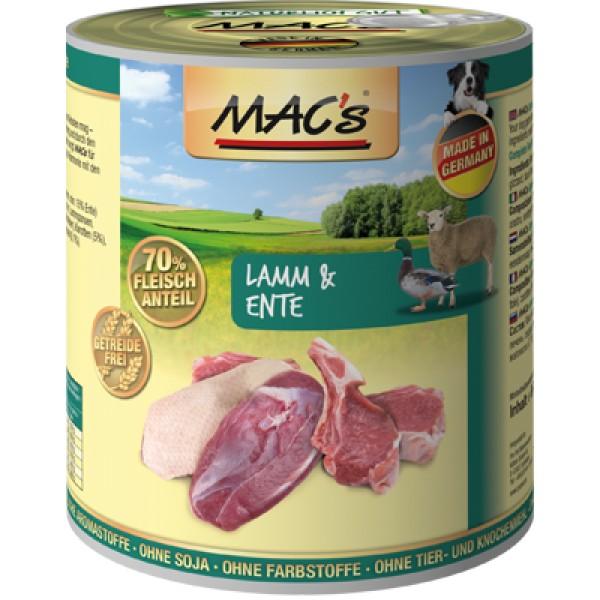 Macs Dog masová konzerva pro psy (jehněčí a kachní) Balení: 800 g
